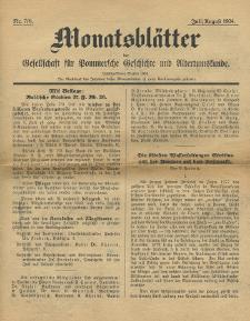 Monatsblätter Jhrg. 38, H. 7/8 (1924)