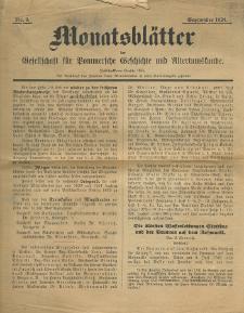 Monatsblätter Jhrg. 38, H. 9 (1924)