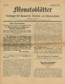 Monatsblätter Jhrg. 38, H. 10 (1924)