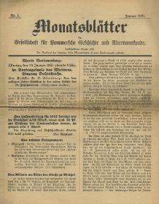 Monatsblätter Jhrg. 39, H. 1 (1925)