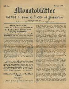 Monatsblätter Jhrg. 39, H. 2 (1925)
