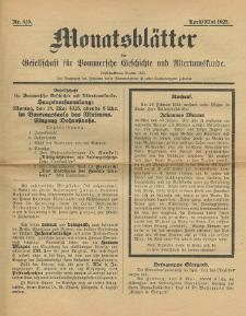Monatsblätter Jhrg. 39, H. 4/5 (1925)