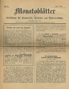 Monatsblätter Jhrg. 39, H. 6 (1925)