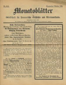 Monatsblätter Jhrg. 39, H. 9/10 (1925)
