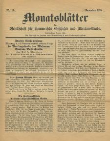 Monatsblätter Jhrg. 39, H. 11 (1925)