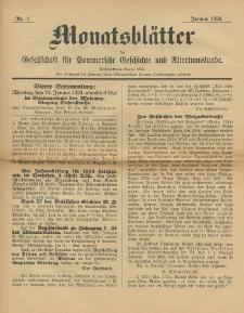 Monatsblätter Jhrg. 40, H. 1 (1926)
