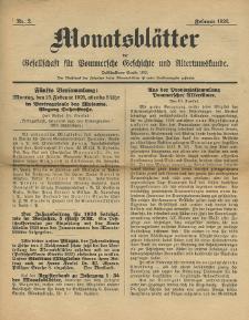 Monatsblätter Jhrg. 40, H. 2 (1926)