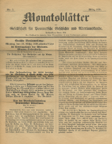 Monatsblätter Jhrg. 40, H. 3 (1926)