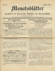 Monatsblätter Jhrg. 40, H. 10 (1926)