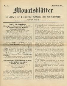 Monatsblätter Jhrg. 40, H. 11 (1926)
