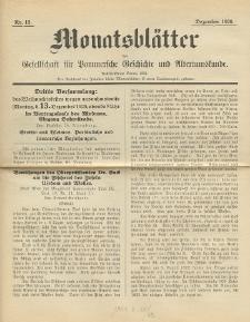 Monatsblätter Jhrg. 40, H. 12 (1926)