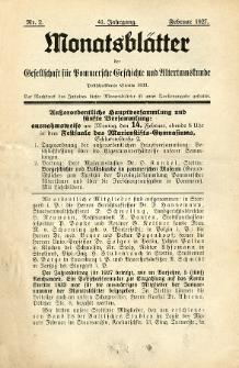 Monatsblätter Jhrg. 41, H. 2 (1927)