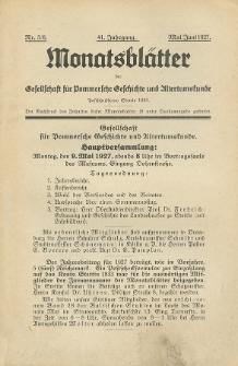 Monatsblätter Jhrg. 41, H. 5/6 (1927)