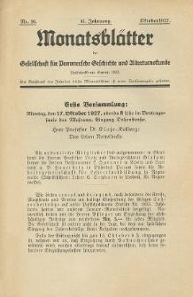 Monatsblätter Jhrg. 41, H. 10 (1927)