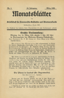 Monatsblätter Jhrg. 42, H. 3 (1928)