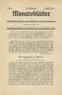 Monatsblätter Jhrg. 42, H. 4 (1928)