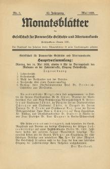 Monatsblätter Jhrg. 42, H. 5 (1928)