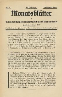 Monatsblätter Jhrg. 42, H. 9 (1928)