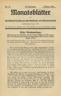 Monatsblätter Jhrg. 42, H. 10 (1928)