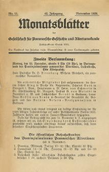 Monatsblätter Jhrg. 42, H. 11 (1928)