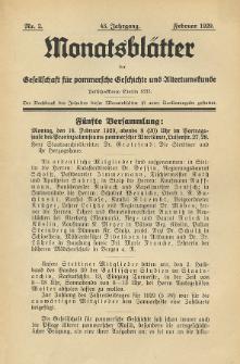 Monatsblätter Jhrg. 43, H. 2 (1929)