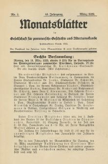 Monatsblätter Jhrg. 43, H. 3 (1929)