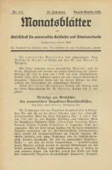Monatsblätter Jhrg. 43, H. 7/8 (1929)