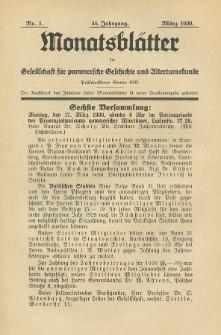 Monatsblätter Jhrg. 44, H. 3 (1930)