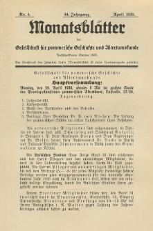 Monatsblätter Jhrg. 44, H. 4 (1930)