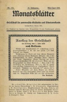 Monatsblätter Jhrg. 44, H. 5/6 (1930)