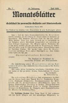 Monatsblätter Jhrg. 44, H. 7 (1930)