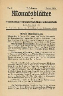 Monatsblätter Jhrg. 45, H. 1 (1931)