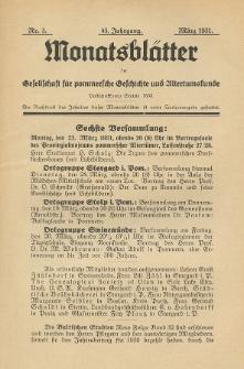 Monatsblätter Jhrg. 45, H. 3 (1931)