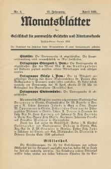 Monatsblätter Jhrg. 45, H. 4 (1931)