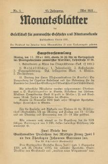 Monatsblätter Jhrg. 45, H. 5 (1931)