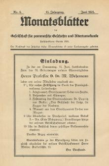 Monatsblätter Jhrg. 45, H. 6 (1931)