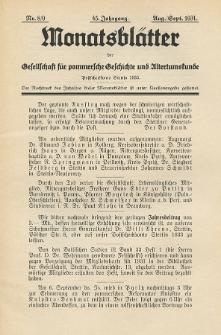 Monatsblätter Jhrg. 45, H. 8/9 (1931)