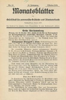 Monatsblätter Jhrg. 45, H. 10 (1931)