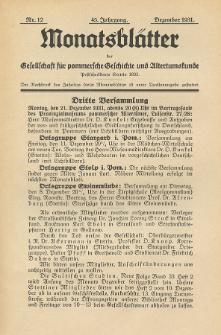 Monatsblätter Jhrg. 45, H. 12 (1931)