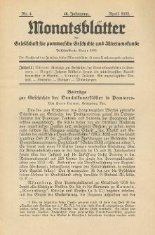 Monatsblätter Jhrg. 46, H. 4 (1932)