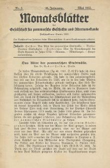 Monatsblätter Jhrg. 46, H. 5 (1932)
