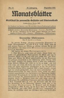 Monatsblätter Jhrg. 46, H. 12 (1932)