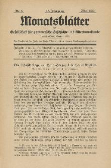 Monatsblätter Jhrg. 47, H. 5 (1933)