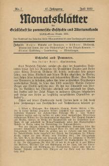 Monatsblätter Jhrg. 47, H. 7 (1933)