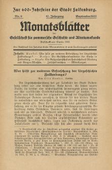 Monatsblätter Jhrg. 47, H. 9 (1933)