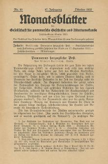 Monatsblätter Jhrg. 47, H. 10 (1933)