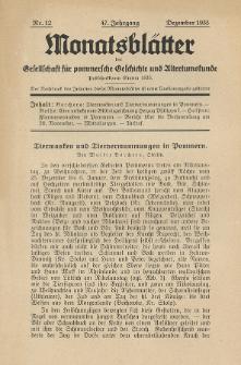 Monatsblätter Jhrg. 47, H. 12 (1933)