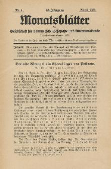 Monatsblätter Jhrg. 48, H. 4 (1934)