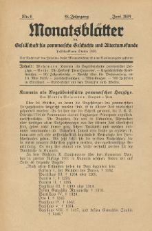 Monatsblätter Jhrg. 48, H. 6 (1934)