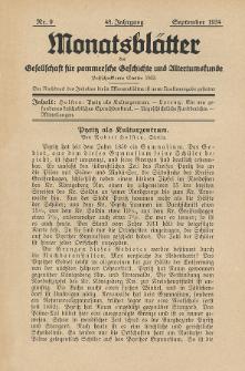 Monatsblätter Jhrg. 48, H. 9 (1934)